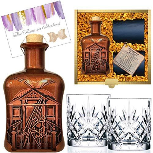 100{5a705bc31664e0d338c45b420935b6b0909b989ac0121773027d45ec9c8b9e0d} Karibik Rarität Spiced Rum Spirituose aus Barbados Sonderedition limitert 1.250 Stück Geschenk mit 2 geschliffenen Gläsern Geburtstag Geschenk für Männer & Kenner Weltreise