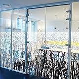 Solar Screen Milchglasfolie Designfolie Sichtschutzfolie FLORAL 152cm Breite Laufmeterware Fensterfolie Selbstklebend Folie Dekofolie Blumen Muster Milchglas