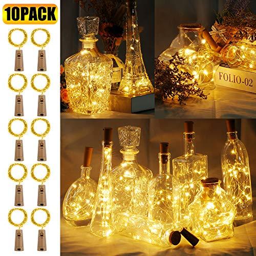 Urlaub Outdoor Deko Ideen - 10 Stück LED Flaschenlicht, BIG HOUSE