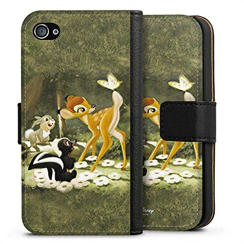 Apple iPhone 7 Plus Tasche Hülle Flip Case Disney Bambi Merchandise Fanartikel Sideflip Tasche schwarz