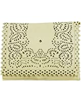 Girly HandBags New Laser Cut Leather Clutch Bag Messenger Perforated Crossbody Handbag Faux