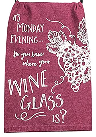 Kay Dee Designs A8532 Choice Wine Glass Krinkle Flour Sack Towel