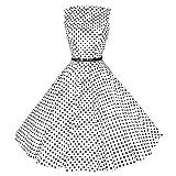 Maggie Tang 50er Retro Schwingen Pinup Rockabilly Kleid Gr.M Farbe Wei? Schwarz
