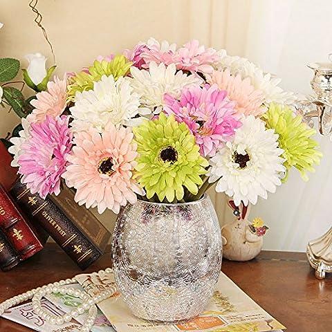 Moderno e minimalista di emulazione di vasi di fiori kit home desktop con argento placcato in vasi di vetro ,1,27*31cm kit