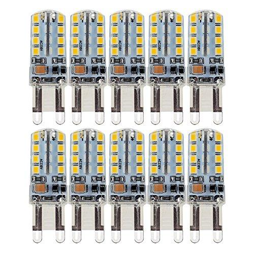 10X G9 Ampoule LED 2.5W Super Lumineux LED Bulb 32 SMD 2835 Spot LED Blanc Chaud 200-220LM LED à économie d'énergie Ampoule LED AC200-240V