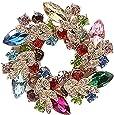 Cosanter - Spilla da Donna Brooch a Forma Ghirlanda Clip Sette Colori Sciarpa Abbigliamento Adatto per Banchetti Matrimoni Party Decor