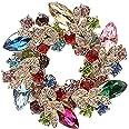 Cosanter - Spilla da Donna Brooch a Forma Ghirlanda Clip Sette Colori Sciarpa Abbigliamento Adatto per Banchetti Matrimoni Pa