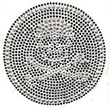 Strass Bügel-Motiv Bügel-Bild Bügel-Applikation Bügel-Sticker-ei Aufbügler Strass-Motive zum aufbügeln waschbare Qualität Pirat Skull 9 x 9 cm
