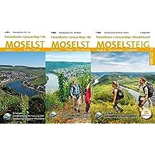 Moselsteig (WR) - 3-teiliges Kartenset: Topographische Karten 1:25 000 mit Wander- und Radwanderwegen mit dem Moselsteig von Perl bis Koblenz (Freizeitkarten Rheinland-Pfalz 1:15000 /1:25000)
