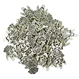 #9: Imported 50Pcs Tibetan Silver Filigree Hollow out Angel Charms Pendants DIY Jewelry