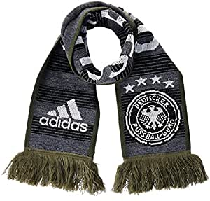 adidas DFB Performance Fanschal, Grau/Grün, OSFM, AH5738