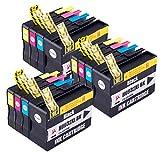 PerfectPrint Kompatibel Tinte Patrone Ersatz für HP Officejet 6100 6600 6700 7110 7510 7610 7612 932XL 933XL (Schwarz/Cyan/Magenta/Gelb, 12-Pack)