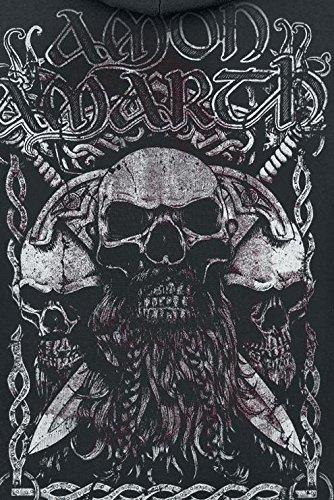 Amon Amarth Beardskulls Sweat à capuche zippé noir Noir