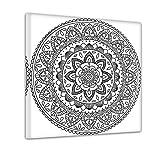 Bilderdepot24 Mandala IV - Ausmalbild auf Leinwand, aufgespannt auf Rahmen - Quadrat-Format - 30x30 cm - Eigene Herstell