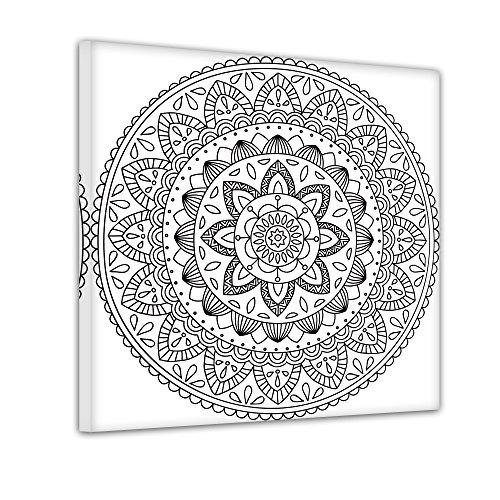 a IV - Ausmalbild auf Leinwand, aufgespannt auf Rahmen - Quadrat-Format - 80x80 cm ()
