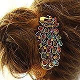 tmodd klassischen Magnificent Pfau mit Vintage Phoenix Kristall Haar Pin Clip