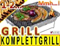 10 x Einweggrill als Campingkocher Klappgrill Faltgrill CAMPING GRILL Grillroste Alu-Grill Einmalgrill Holzkohlegrill (ohne Gasgrill) Einmalgrill