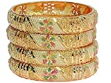 Mansiyaorange Gold Plated Bangle Set For Women