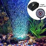 Kuty Éclairage Aquarium, LED Lampe Aquarium, avec Bulle d'air LED Décoration Éclairage D'aquarium De Poissons avec EU Fiche (6 Bulbs with air Pump)
