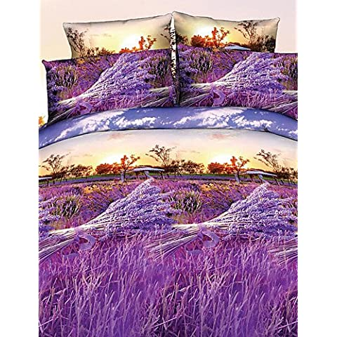 Ropa de cama de GL,ropa de cama,edredón betterhome tapa / cubierta de edredón establecer la actividad de la manera 3D 4pcs impresión floral