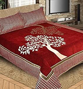 Fresh from Loom 500 TC Premium Chenille Bed Cover with 2 Pillow Cover
