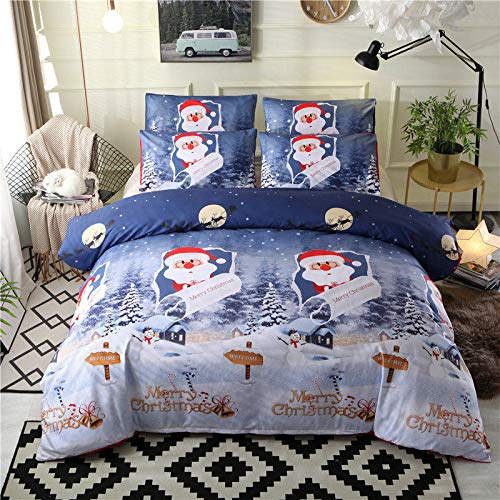 muzi928 Christmas Bed Kids Bedding Set Queen Size Red King Quilt Cover Pillowslip 200 * 230cm