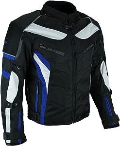 HEYBERRY Textil Motorrad Jacke Motorradjacke Schwarz Blau Gr. XL