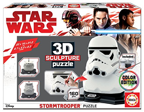 Educa Borrás – Star Wars Farbe 3d Sculpture Puzzle Stormtrooper (17803)