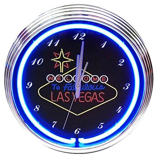 Las Vegas Neon Uhr-Echter Neon (nicht LED)