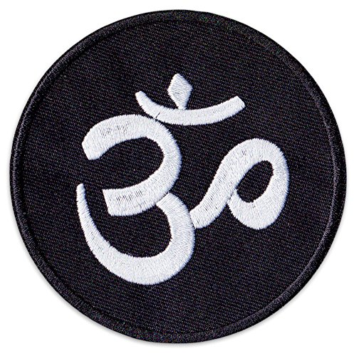 Aum Zeichen Aufnäher Aufbügler Patch Hinduismus Buddhismus Buddha Yoga Party Festival (Klein)