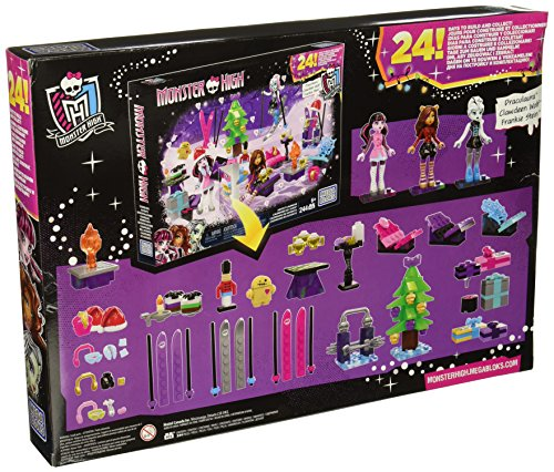 Image of Mega Bloks Toy - Monster High Advent Calendar - Includes Xmas Dolls and Accessories 244 Pieces