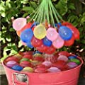 Acryls UK Ltd 111 pcs of Self sealing Water balloons 60 Seconds Fill & Automatic 111 Tie Multi Colored Magic Water Balloons (111 Balloons)