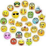 QTHZL Aufkleber 50 Stücke Emoji Aufkleber Spielzeug Für Kinder Cartoon Emoticon Lächeln Gesicht...