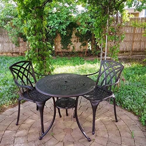 Lazy Susan – ANNA Gartentisch mit 2 Stühlen - 8