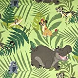 Lizenzprodukt Lion King Kion grün Neuheit Premium Grade 100% Baumwolle feines Gewebe Kinder Vorhang Betten Stoff 140cm breit, Meterware,