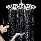 Duschkopf Regendusche Einbauduschköpfe Kopfbrause Regenbrause mit Anti-Kalk-Düsen Edelstahl poliert Spiegeleffekt Hochglänzend 12 Zoll- rund