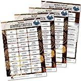 Gewürzetiketten Feinschmecker Edition 2019 - 117 Gewürzaufkleber, Mehl Salz & Zucker wasserfest für Gläser, Dosen und Regale (schwarz/weiß)