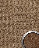 Wandverkleidung Leder Design WallFace 14302 ELEGANZA Wandpaneel selbstklebend braun silber   2,60 qm