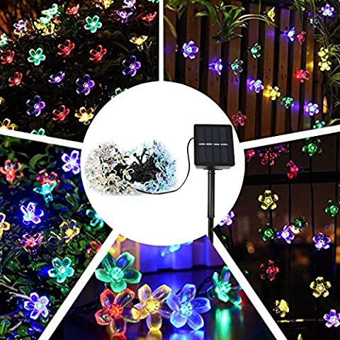Solar String Lights, IDEAPRO Garden Flower Lights 100 LED 17M Waterproof Decorative Lighting Fence Lights for Christmas, Wedding, Party,
