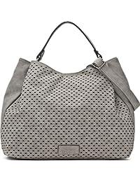 Umhängetasche - Damen Handtasche mit verstellbarem Schultergurt - Henkeltasche in Leder Optik - 40 x 29 x 13,5 cm - Hobo Bag von MIYA BLOOM