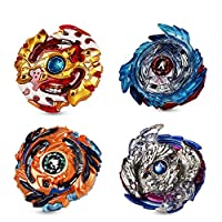Innoo Tech 2020 Burst Battle Gyro Top Set of 4, 4D Fusion Model Metal Masters Acceleration Launcher, Speed Spinning Top, Great Kids Toy