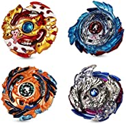 ANEAR 2020 Beyblade Burst Battle Gyro Top Set of 4, 4D Fusion Model Metal Masters Acceleration Launcher, Speed