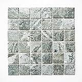 Fliesen Mosaik Mosaikfliese Keramik matt Grau Küche Bad WC Boden 6mm Neu #561