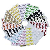 Kbnian 13 Blätter Fotoecken Selbstklebend Vintage klebeecken aus Kraftpapier für DIY Scrapbook, Postkartensammlung, Bild, Album, Tagebuch Bunt