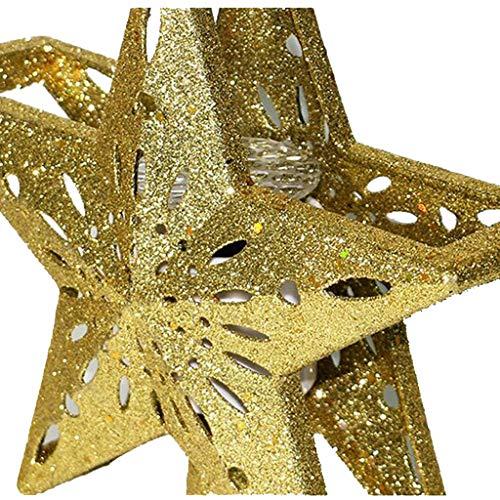 Weihnachtsbeleuchtung Weihnachtsbaum Top Star Led Lichterkette Projektionsleuchte Gold Us Europa Motiv-Lampen Australien Topper Stimmungslichter Lichtprojektionslampe Gold/Silber