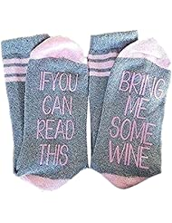 Hedie IF You Can Read This PLEASE Bring Me Some Wine Short Socks
