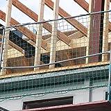 Seitenschutznetz 10,00 x 2,00 m, PP grün, Mw. 100 mm, DIN-EN 1263-1