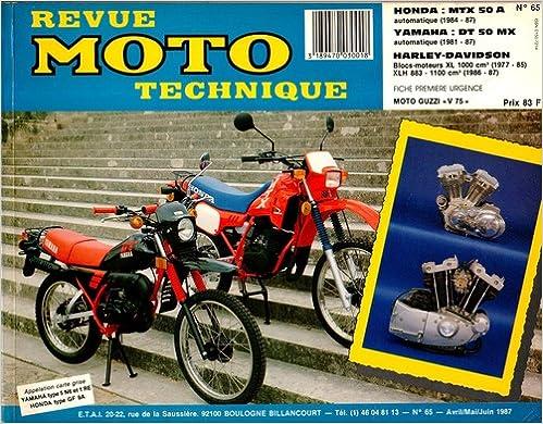 Revue technique de la Moto, numéro 65.1 : Honda MTX 50, Yamaha DT 50 MX, Harley XL1000 epub, pdf