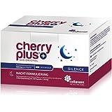 Cherry PLUS Silence: Nachtkombi aus der Montmorency Sauerkirsche mit natürlichem Melatonin, der Schlafbeere (Ashwagandha) & L-Tryptophan von Cellavent Healthcare - 180 vegane Kapseln