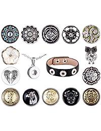 Morella señorías small Click-Button cielo-Set Collar 3er pulsera 14 pcs pulsadores